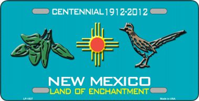 Green Chili & Road Runner New Mexico Wholesale Metal Novelty License Plate LP-1527
