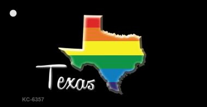 Texas Rainbow State Wholesale Novelty Key Chain