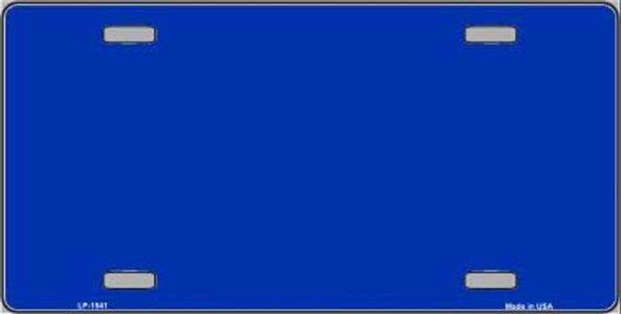 Royal Blue Solid Print Wholesale Metal Novelty License Plate LP-1541