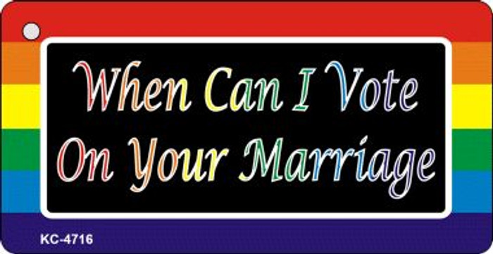 Can I Vote Rainbow Designs Wholesale Novelty Key Chain