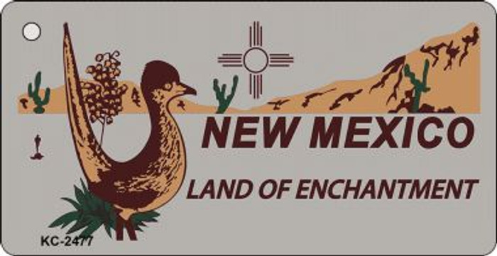 New Mexico Gray Wholesale Novelty Key Chain
