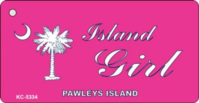 Island Girl Pink Wholesale Novelty Key Chain