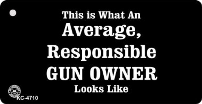 Average Responsible Gun Owner Wholesale Novelty Key Chain