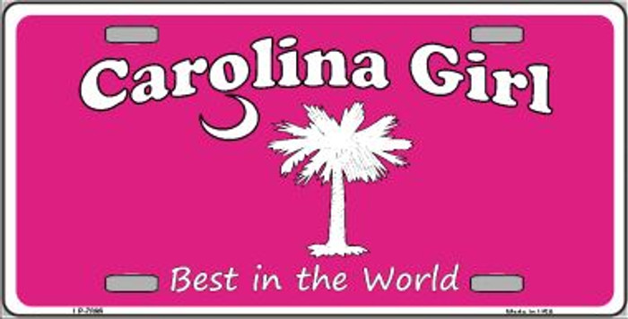 Carolina Girl Pink Novelty Wholesale Metal License Plate