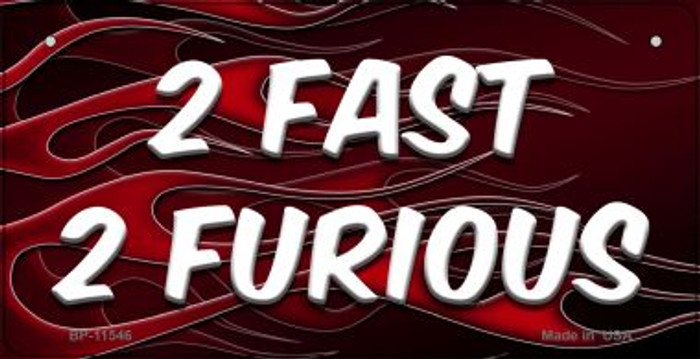 2 Fast 2 Furious Novelty Wholesale Metal Bicycle License Plate BP-11546