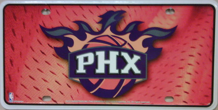 Phoenix Suns Wholesale Metal Novelty License Plate