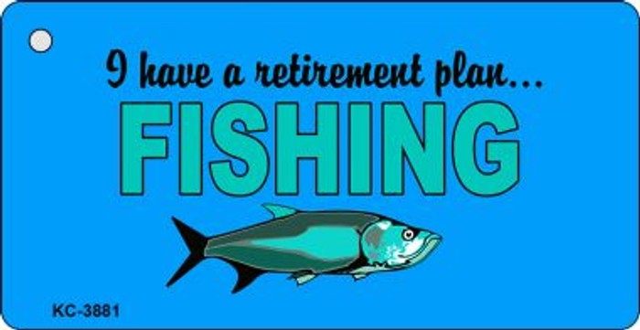 Retirement Plan Fishing Wholesale Novelty Key Chain
