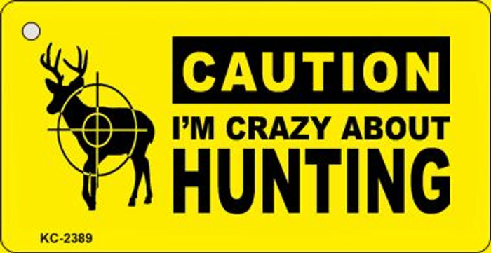 Crazy About Hunting Wholesale Novelty Key Chain