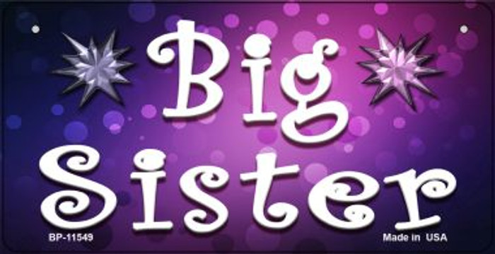 Big Sister Novelty Wholesale Metal Bicycle License Plate