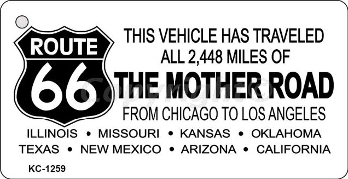 Route 66 Mother Road Wholesale Novelty Key Chain