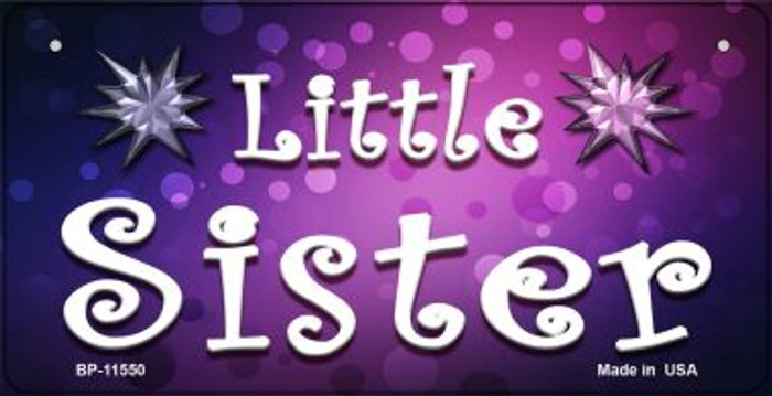 Little Sister Novelty Wholesale Metal Bicycle License Plate