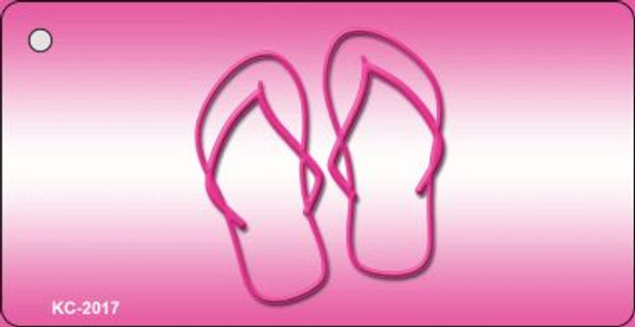 Pink Flip Flops Wholesale Novelty Key Chain