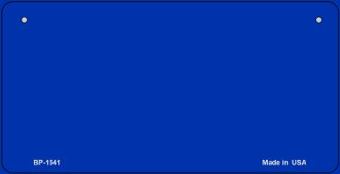 Blue Blank Novelty Wholesale Metal Bicycle License Plate