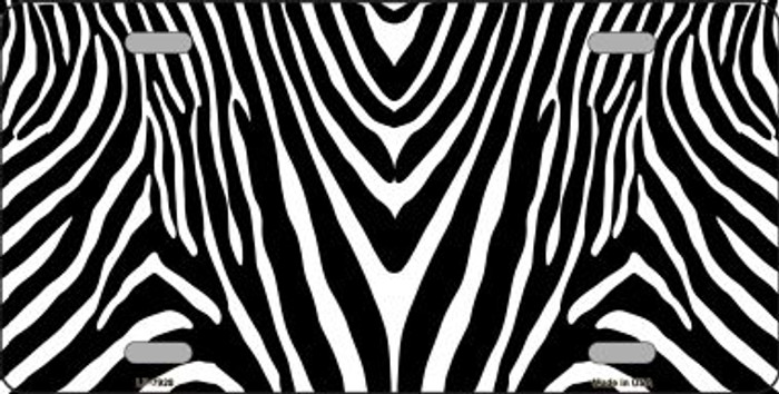 Zebra Print Background Wholesale Metal Novelty License Plate
