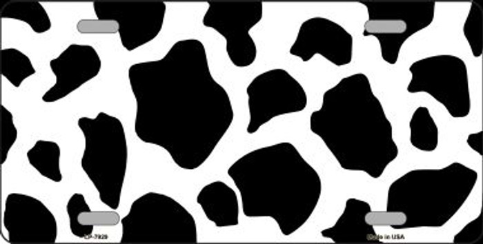 Cow Print Background Wholesale Metal Novelty License Plate