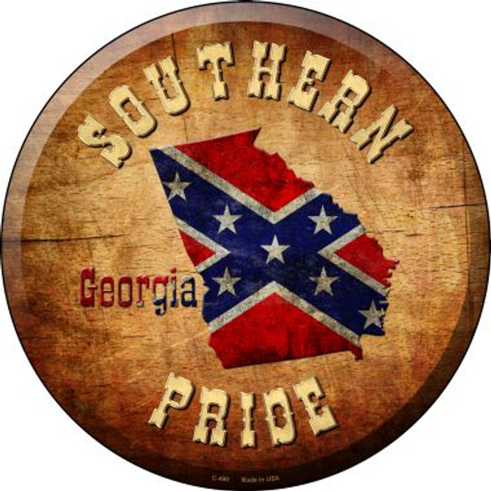 Southern Pride Georgia Wholesale Novelty Metal Circular Sign