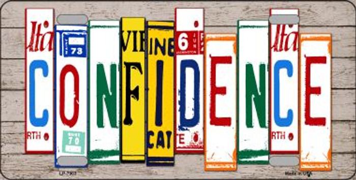 Confidence Wood License Plate Art Novelty Wholesale Metal License Plate