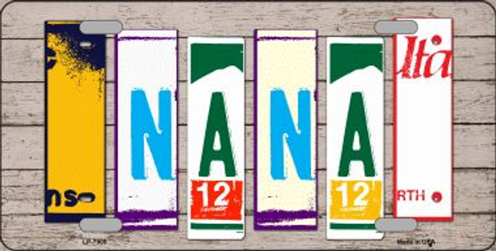 Nana Wood License Plate Art Novelty Wholesale Metal License Plate