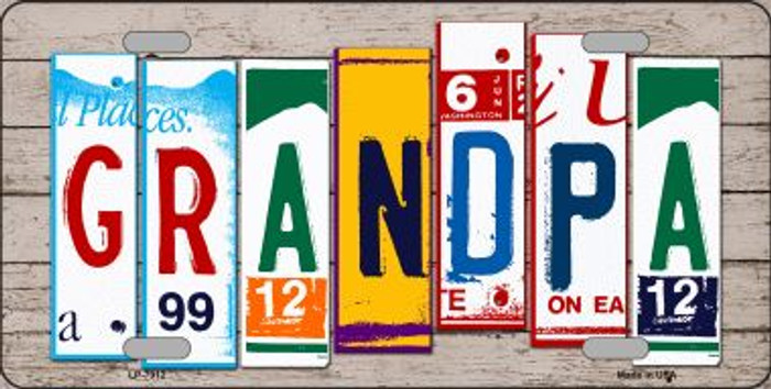 Grandpa Wood License Plate Art Novelty Wholesale Metal License Plate