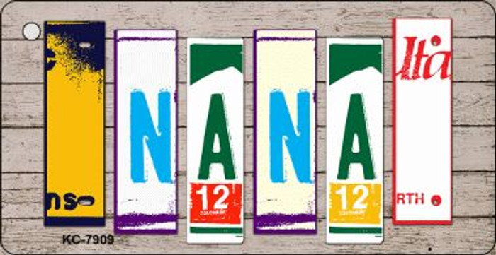 Nana Wood License Plate Art Wholesale Novelty Key Chain KC-7909