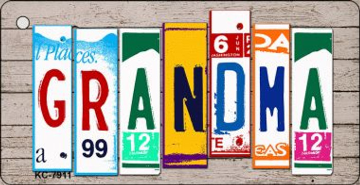 Grandma Wood License Plate Art Wholesale Novelty Key Chain