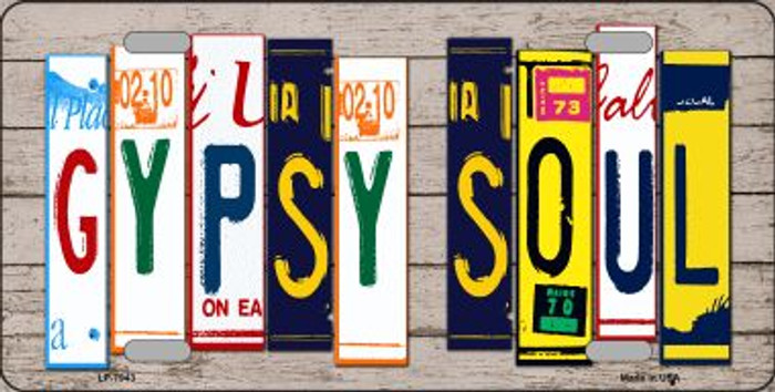 Gypsy Soul Wood License Plate Art Novelty Wholesale Metal License Plate