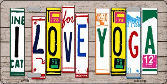 I Love Yoga Wood License Plate Art Novelty Wholesale Metal License Plate