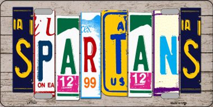 Spartans Wood License Plate Art Novelty Wholesale Metal License Plate