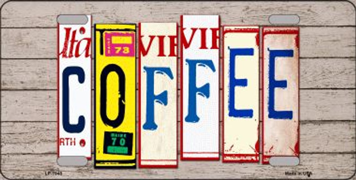 Coffee Wood License Plate Art Novelty Wholesale Metal License Plate