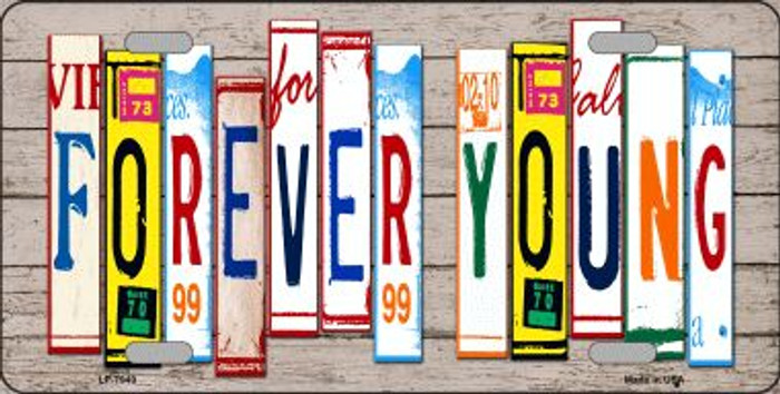 Forever Young Wood License Plate Art Novelty Wholesale Metal License Plate