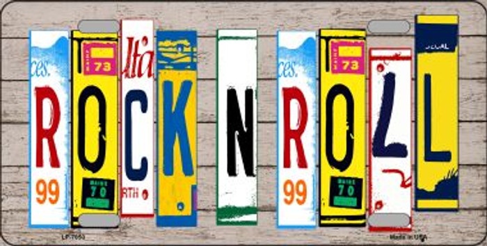 Rock N Roll Wood License Plate Art Novelty Wholesale Metal License Plate