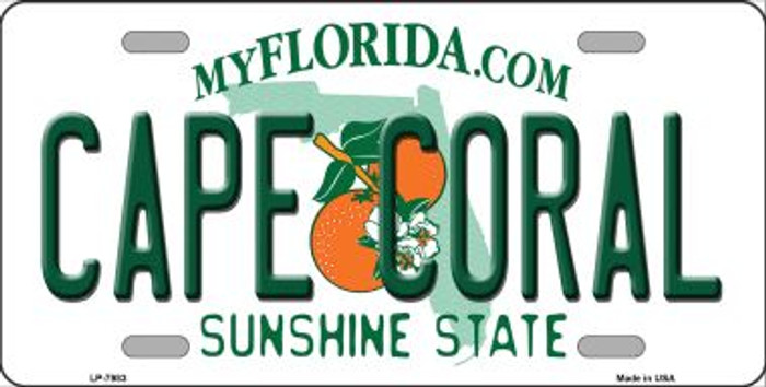 Cape Coral Florida Novelty Wholesale Metal License Plate