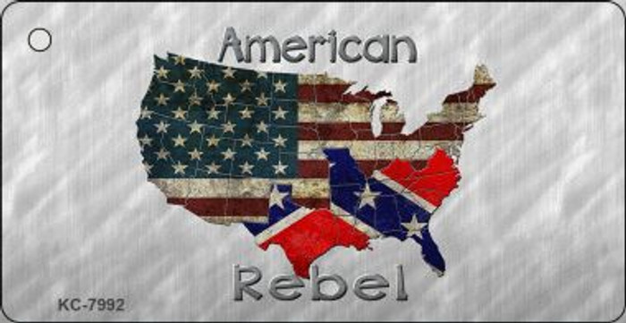 American Rebel Map Wholesale Novelty Key Chain