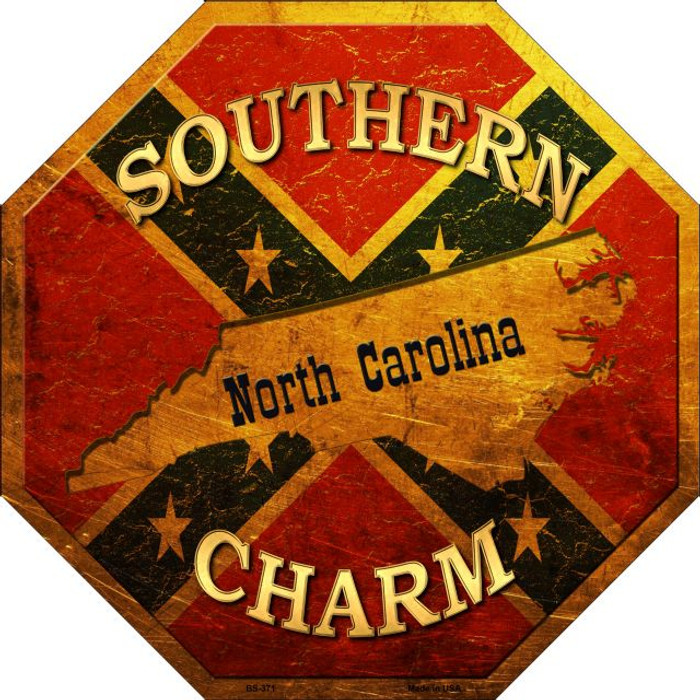 Southern Charm North Carolina Wholesale Metal Novelty Stop Sign