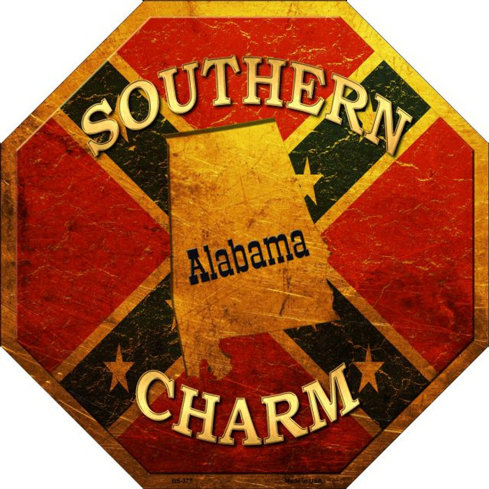 Southern Charm Alabama Wholesale Metal Novelty Stop Sign