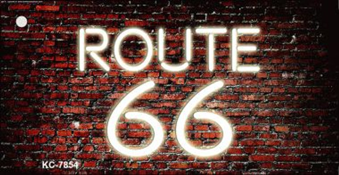 Route 66 Neon Brick Background Wholesale Novelty Key Chain