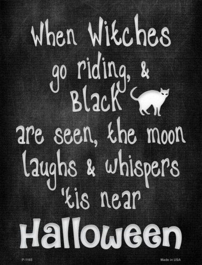 Witches Go Riding Wholesale Metal Novelty Parking Sign P-1165
