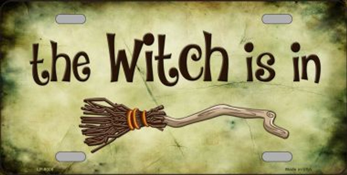 The Witch Is In Novelty Wholesale Metal License Plate