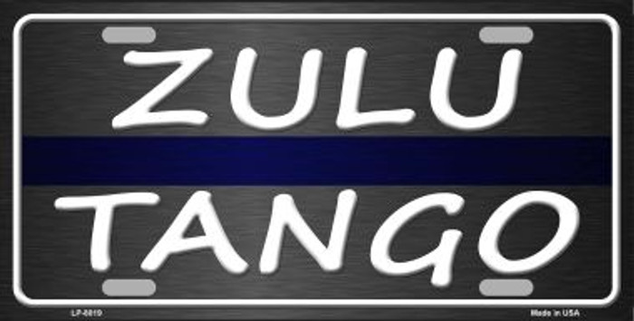 Zulu Tango Novelty Wholesale Metal License Plate