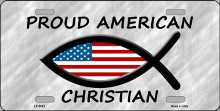 Proud American Christian Wholesale Novelty Metal License Plate