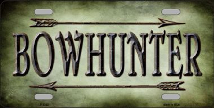 Bowhunter Wholesale Novelty Metal License Plate