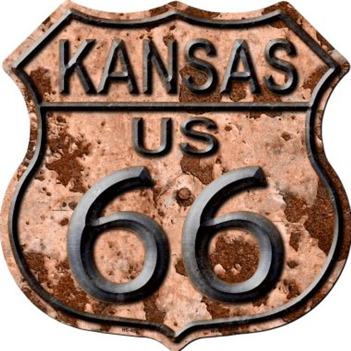 Kansas Route 66 Rusty Wholesale Metal Novelty Highway Shield