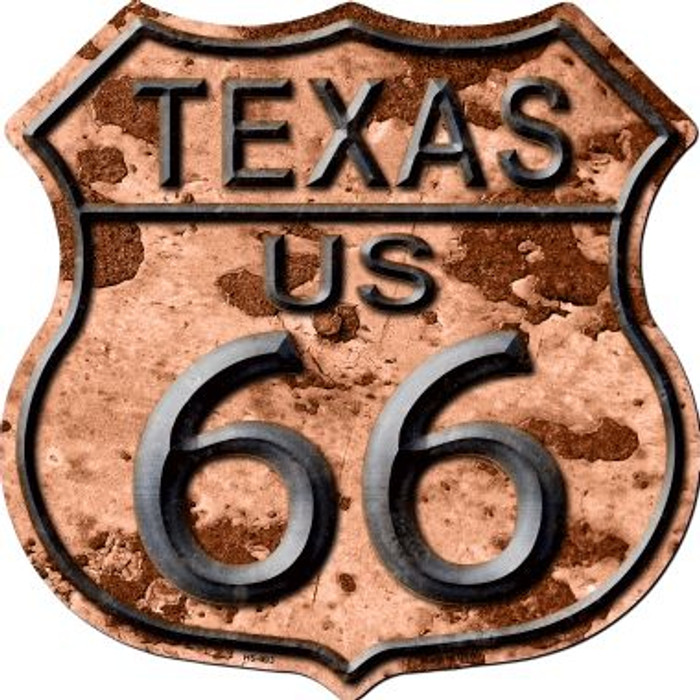 Texas Route 66 Rusty Wholesale Metal Novelty Highway Shield