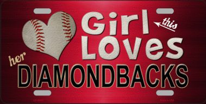 This Girl Loves Her Diamondbacks Novelty Wholesale Metal License Plate