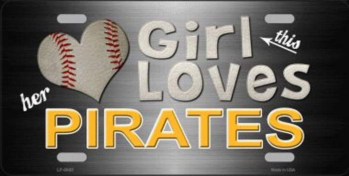This Girl Loves Her Pirates Novelty Wholesale Metal License Plate