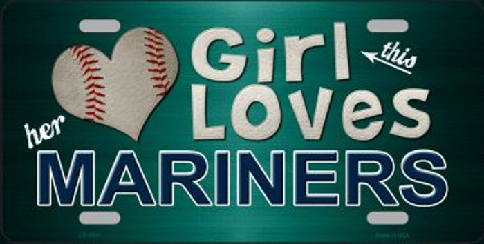 This Girl Loves Her Mariners Novelty Wholesale Metal License Plate