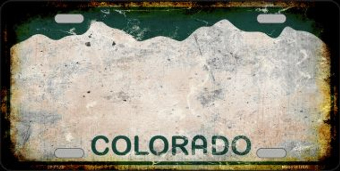Colorado State Background Rusty Novelty Wholesale Metal License Plate