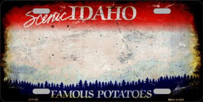Idaho State Background Rusty Novelty Wholesale Metal License Plate
