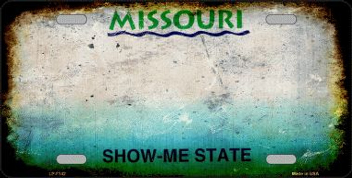 Missouri State Background Rusty Novelty Wholesale Metal License Plate