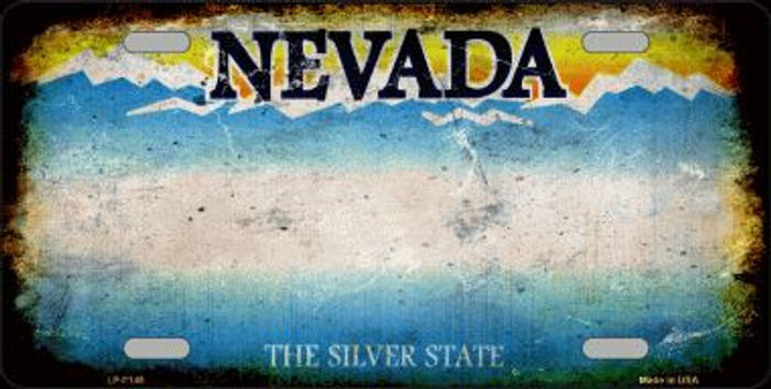 Nevada State Background Rusty Novelty Wholesale Metal License Plate